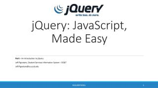 jQuery: JavaScript, Made Easy