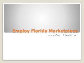 Employ Florida Marketplace