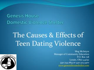 Genesis House Domestic Violence Shelter