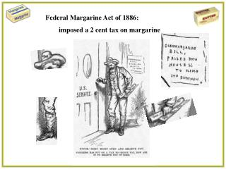 Federal Margarine Act of 1886: