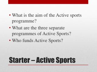 Starter – Active Sports