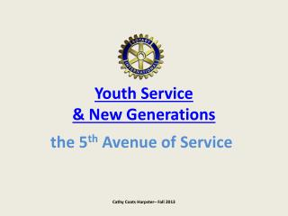 Youth Service  & New Generations