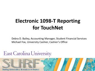 Electronic 1098-T Reporting  for TouchNet