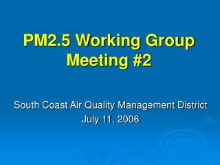 Quality Management August 9, 2006