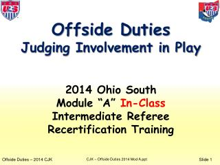 Offside Duties Judging Involvement in Play