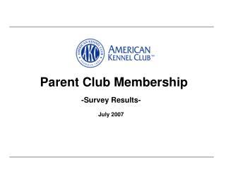 Parent Club Membership