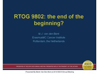 RTOG 9802: the end of the beginning?