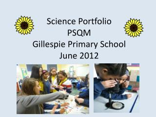 Science Portfolio  PSQM  Gillespie Primary School  June 2012