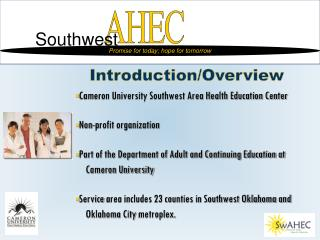 Cameron University Southwest Area Health Education Center Non-profit organization