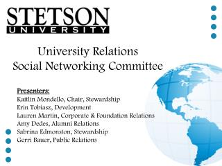 University Relations Social Networking Committee