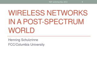 Wireless networks in a post-spectrum world