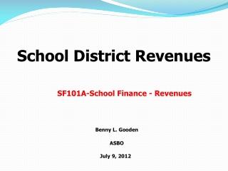 School District Revenues