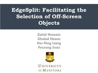 EdgeSplit: Facilitating the Selection of Off-Screen O bjects