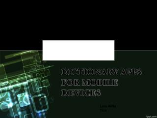Dictionary apps  for mobile devices