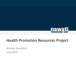 Health Promotion Resources Project