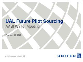 UAL Future Pilot Sourcing
