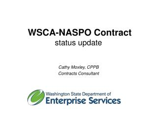 WSCA-NASPO Contract  status update