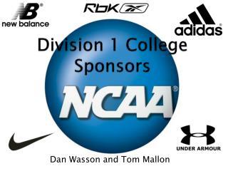 Division 1 College Sponsors