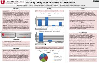 Marketing Library Poster Services via a  USB Flash  Drive