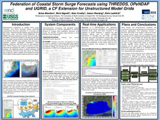 Federation of Coastal Storm Surge Forecasts using THREDDS, OPeNDAP