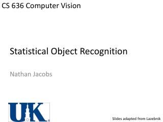 Statistical Object Recognition