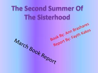 March Book Report