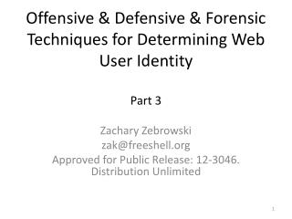 Offensive & Defensive & Forensic Techniques for Determining Web User Identity Part  3