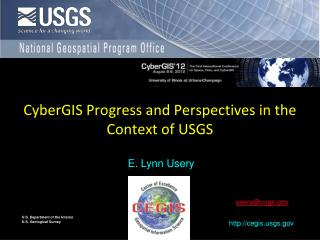 CyberGIS Progress and Perspectives in the Context of USGS