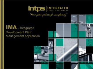 IMA – Integrated Development Plan Management Application