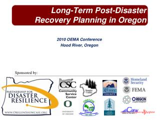 Long-Term Post-Disaster Recovery Planning in Oregon