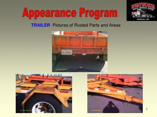 TRAILER   Pictures of Rusted Parts and Areas