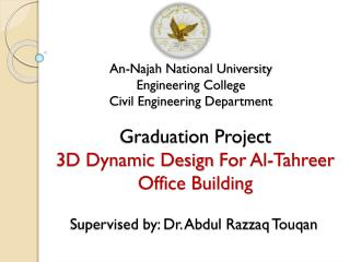 An-Najah National University Engineering  College Civil Engineering Department