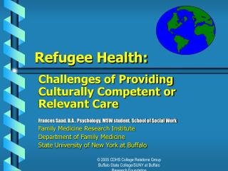 Refugee Health: