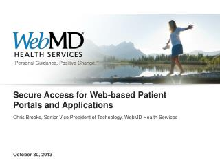 Secure Access for Web-based Patient Portals and Applications