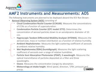 AMF2 Instruments and  Measurements: AOS