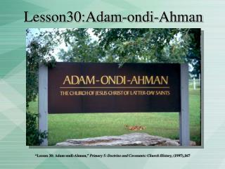 Lesson30:Adam-ondi-Ahman