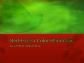 Red-Green Color-Blindness