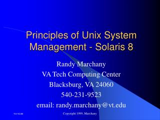 Principles of Unix System Management - Solaris 8