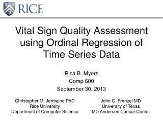 Vital Sign Quality Assessment using Ordinal Regression of Time Series Data