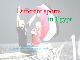 Different sports                           in Egypt