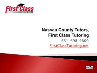 Nassau & Suffolk County Tutors, First Class Tutors