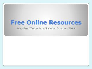 Free Online Resources
