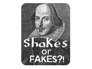 Shakespeare = Blue Other person = Red