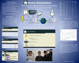 Home Automation RIT Computer Engineering Senior Design Project