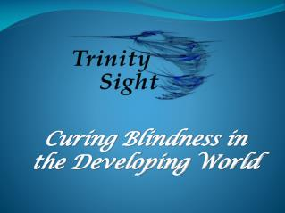 Curing Blindness in  the Developing  World