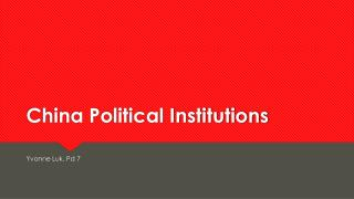 China Political Institutions