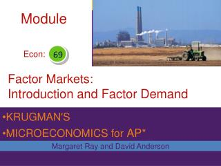 Factor Markets: Introduction and Factor Demand