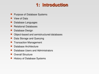 Chapter 1              Databases and Database Users