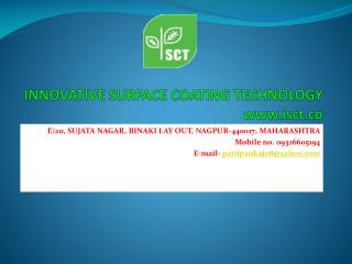 INNOVATIVE SURFACE COATING TECHNOLOGY  www.isct.co