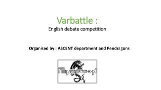 Varbattle :  English debate competition